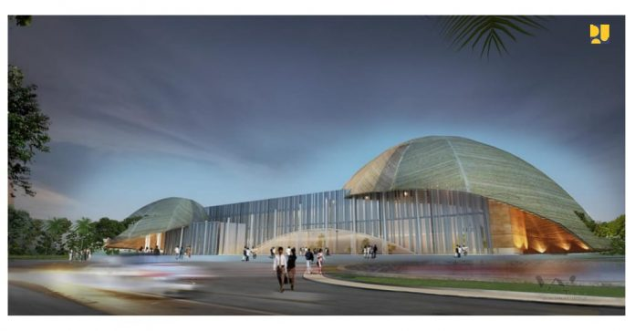 anggaran pembangunan konstruksi Papua Youth Creative Hub senilai Rp98 miliar.